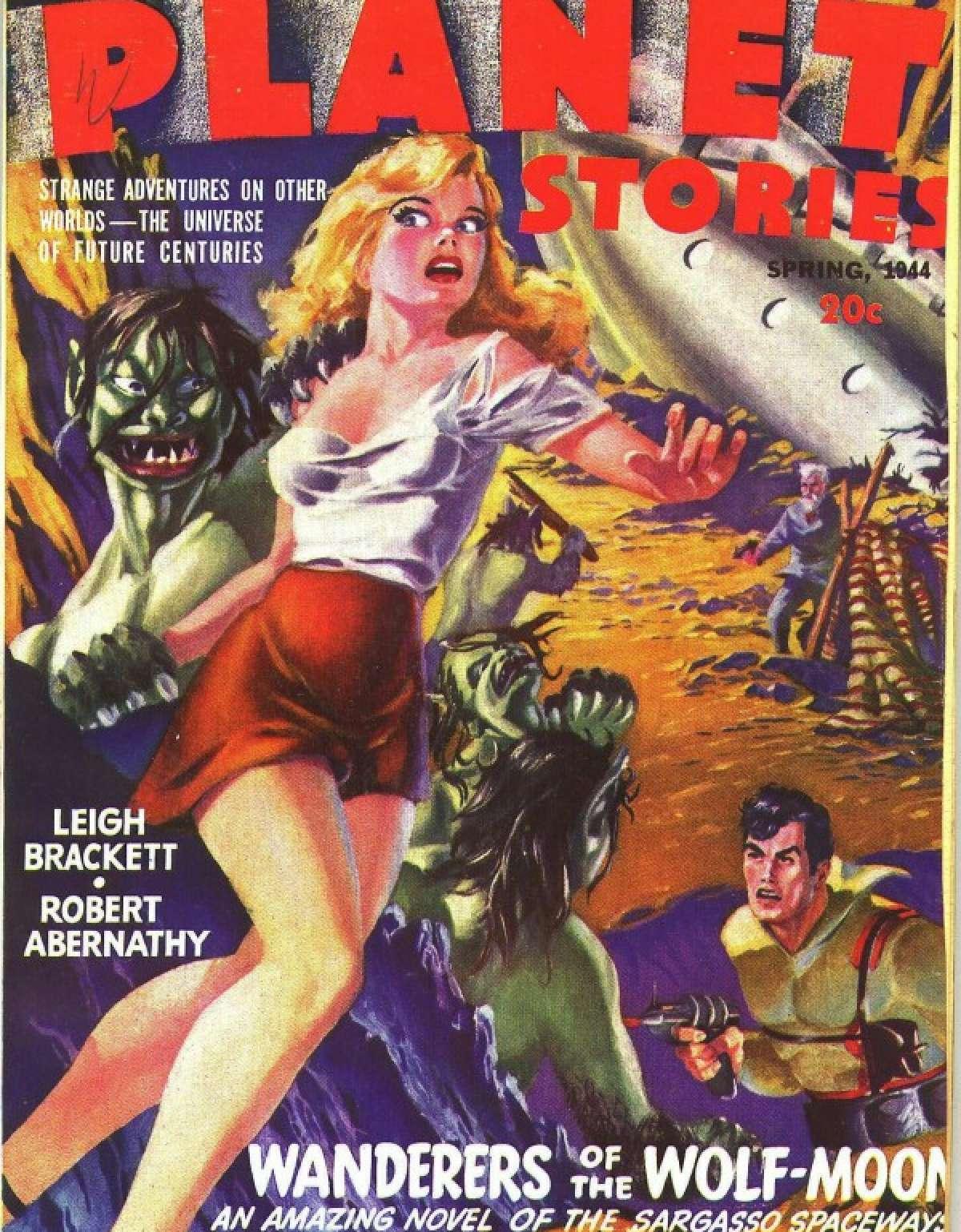 Couverture d'un magazine «pulp» des années 1940.