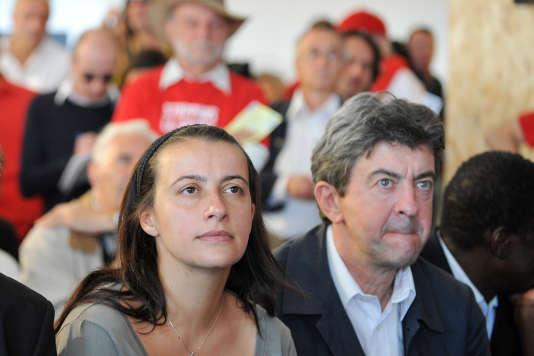 Cécile Duflot et Jean-Luc Mélenchon, à la Fête de l'Humanité, en 2009.
