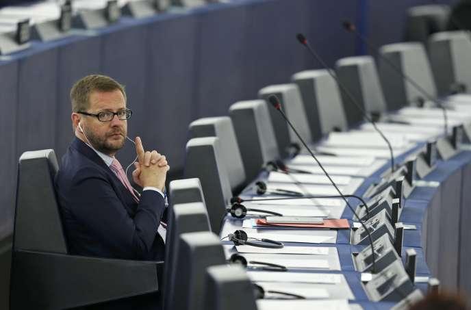 Jérôme Lavrilleux au Parlement européen le 20 mai 2015.