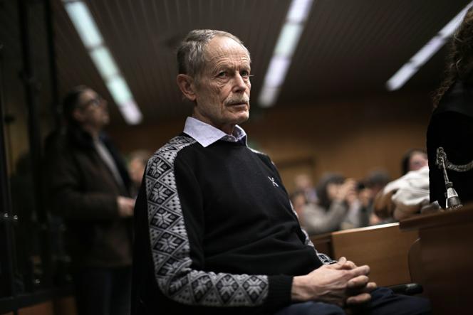 L'écrivain italien Erri De Luca, le 16 mars au tribunal de Turin.