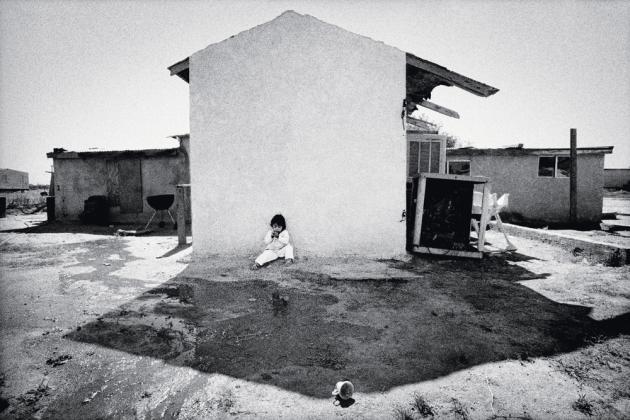 Une fille d'immigrants chez elle, à Kerman (2004).