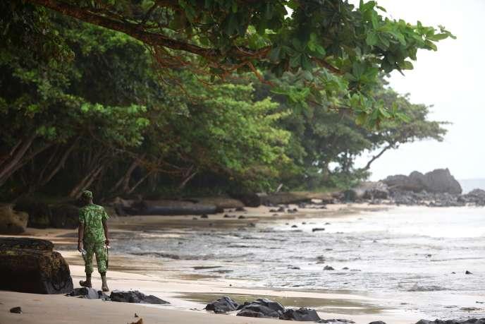 Un parc national au Gabon, entre la foret tropicale, la savane et les plages, surveillé par un éco-garde.