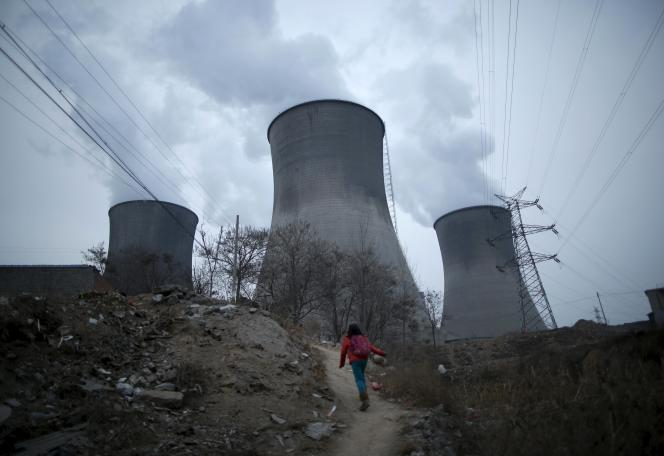 Une centrale à charbon à Shijiazhuang, dans la province du Hebei en Chine, 28 janvier 2015