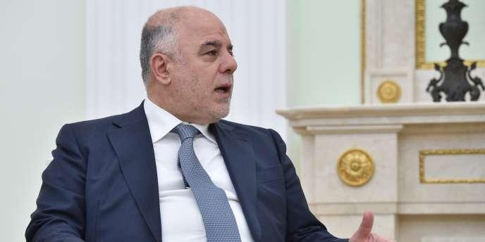 Le premier ministre irakien, Haïder Al-Abadi,  au Kremlin, à l'occasion d'une rencontre avec le président russe, Vladimir Poutine, le 21 mai.