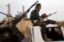 Un combattant de Misrata opposé à l'EI, près de Syrte (Libye), le 16 mars.