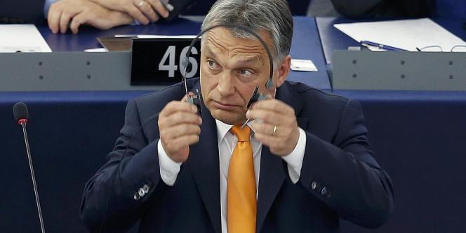 Le premier ministre hongrois, Viktor Orban, à Strasbourg, le 19 mai.