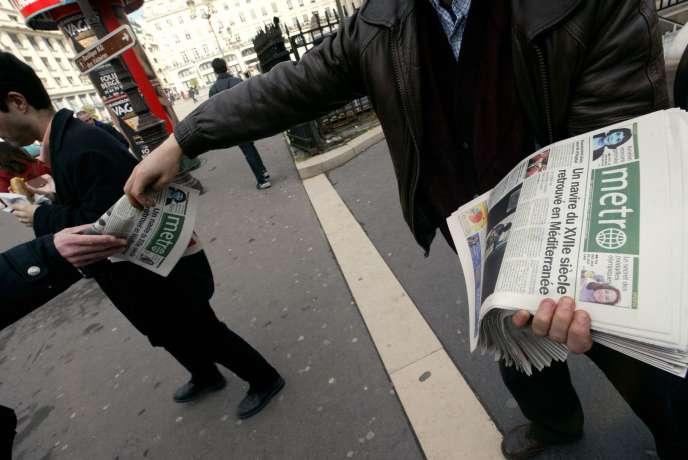 Le journal gratuit Metronews, propriété de TF1, a perdu 12 millions d'euros en 2014.