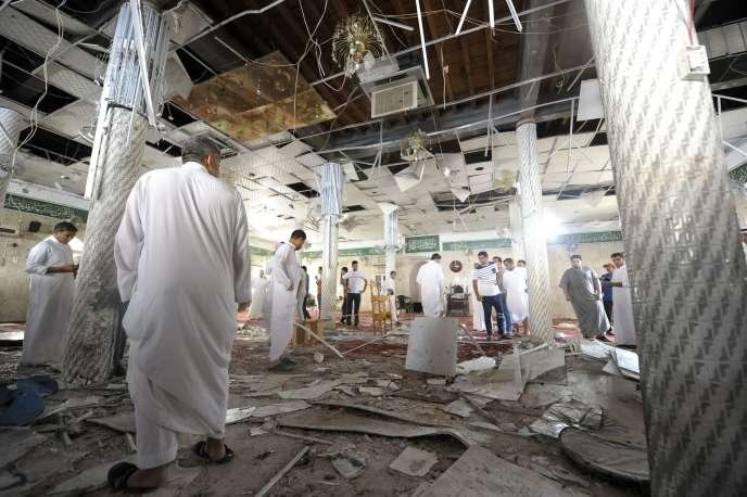 La mosquée chiite de Koudeih, dans l'est de l'Arabie saoudite, a été frappée par un attentat-suicide le 22mai.