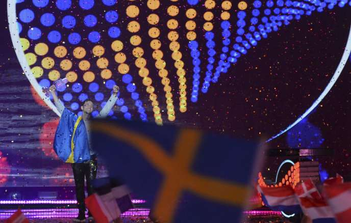 Mans Zelmerlöw, vainqueur de l'Eurovision 2015.