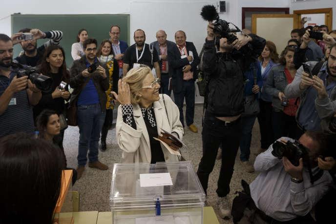 Manuela Carmena, 71ans, pourrait devenir la nouvelle maire de Madrid.