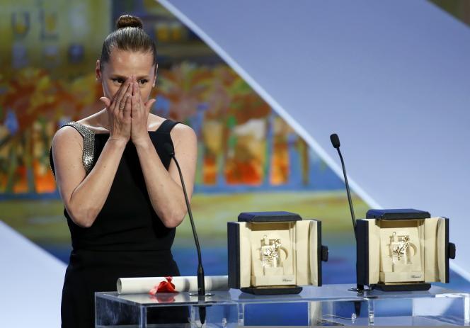 Emmanuelle Bercot, meilleure actrice à Cannes, le 24 mai 2015.