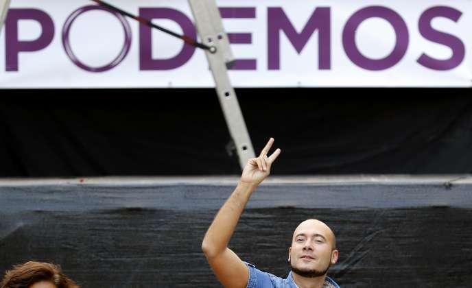 Créé en janvier 2014, Podemos s'est hissé à la troisième place lors des élections régionales du 24 mai en Espagne.