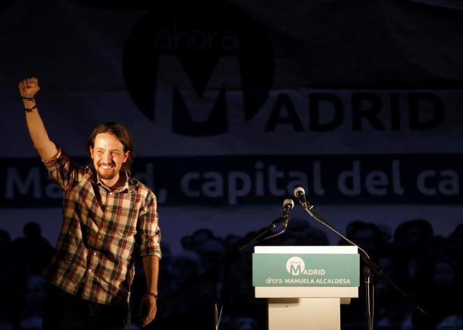 Pablo Iglesias, leader de Podemos, le 25 mai 2015.