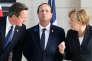 David Cameron, François Hollande et Angela Merkel à Ypres en Belgique le 26 juin 2014.