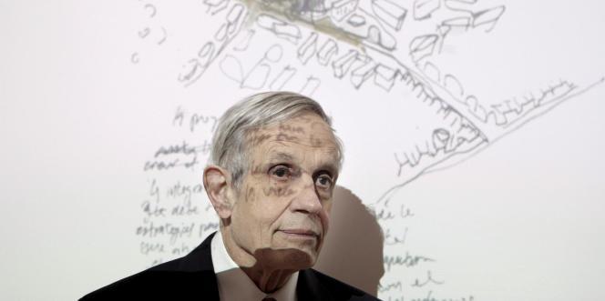 Le mathématicien américain John Nash, lors d'une conférence à Madrid, en 2008.