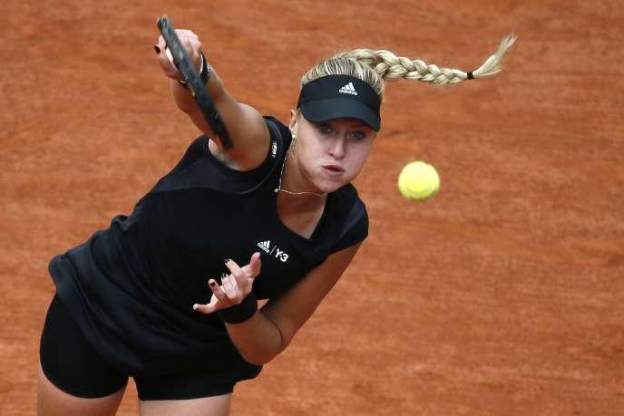Kristina Mladenovic s'offre le scalp de la Canadienne Eugénie Bouchard, qui restait sur une demi-finale à Roland-Garros l'an dernier.