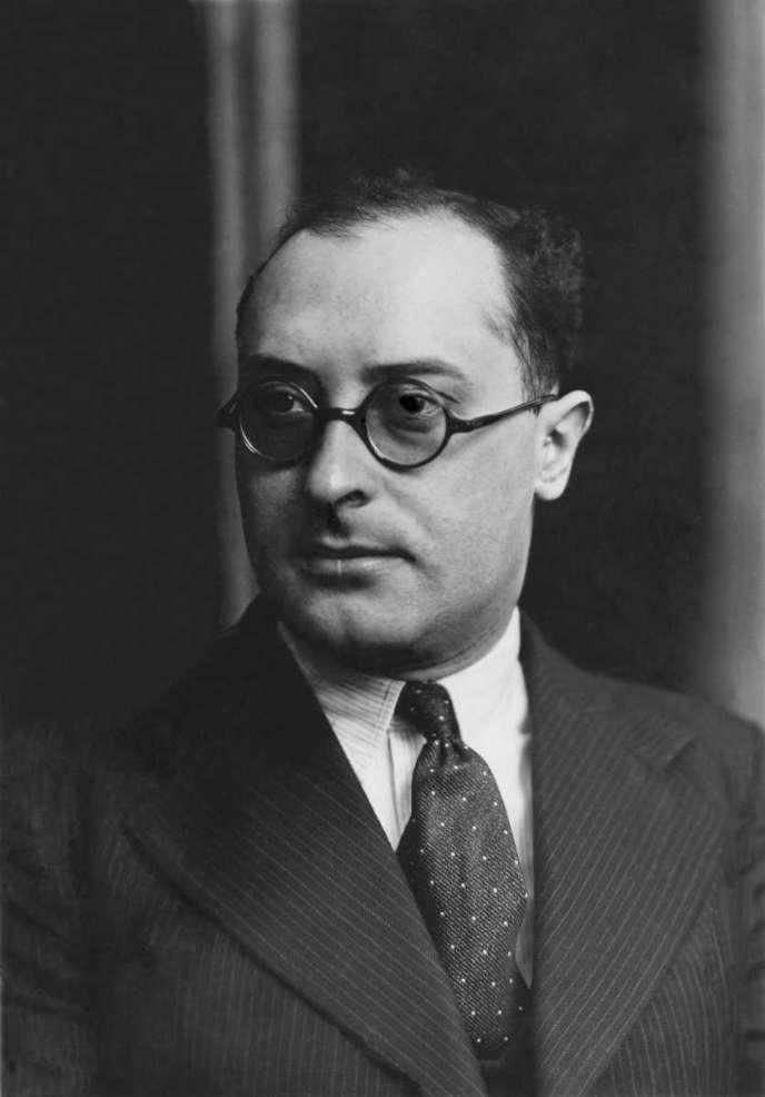 Jean Zay, ministre de l'éducation nationale dans le gouvernement de Léon Blum. KEYSTONE-FRANCE