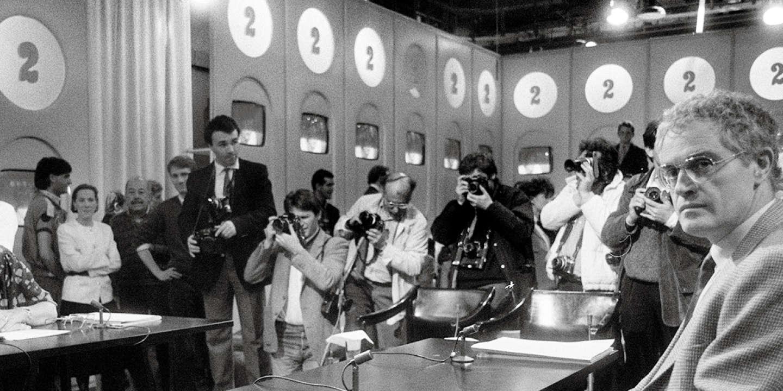 Lionel Jospin face à Simone Veil à L'Heure de vérité