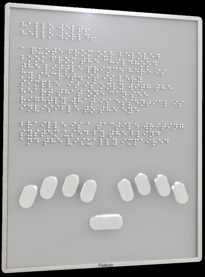 Prototype de Blitab, tablette permettant l'affichage enbraille d'une page Web entière.
