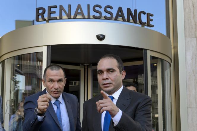 Le prince Ali Ben Hussein (à droite), mercredi 27 mai, à Zurich.