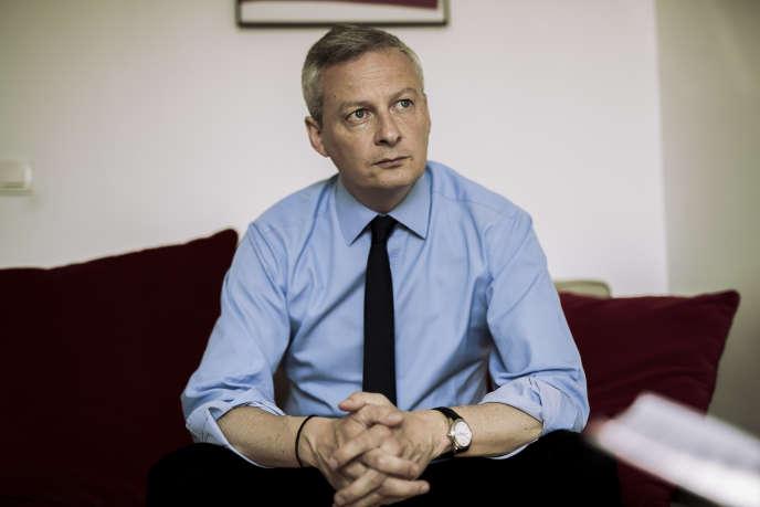 Bruno Le Maire, député de l'Eure, probable candidat à la primaire de la droite et du centre pour la candidature pour l'élection présidentielle de 2017, le 27 mai.