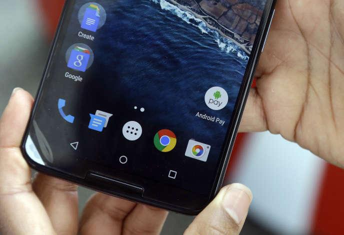 Présentation d'Android M par Google, le 28 mai à San Francisco.