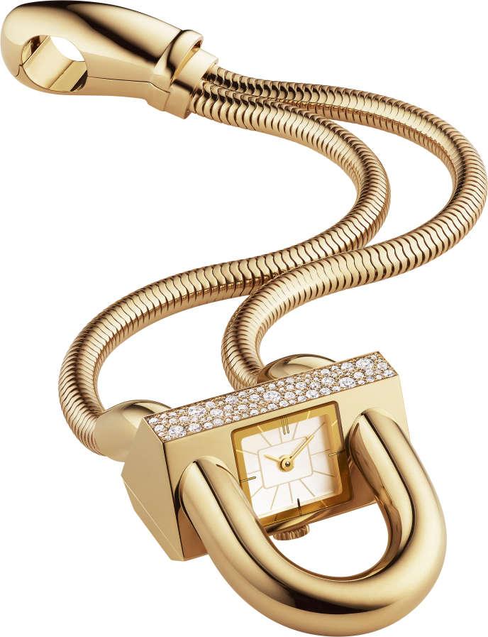 Montre cadenas conçue en 1935 par Van Cleef & Arpels.