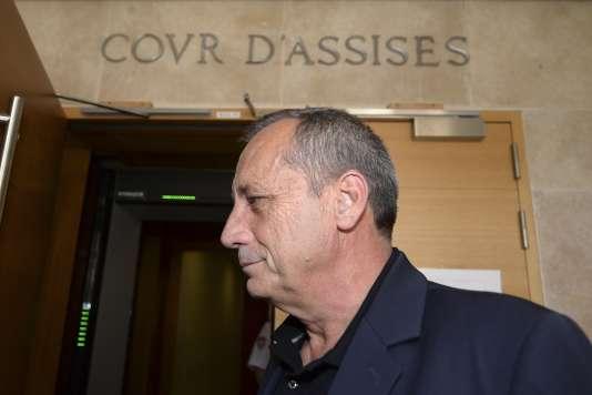 Alain Orsoni, lors de son arrivé au tribunal d'Aix-en-Provence, le 11 mai.
