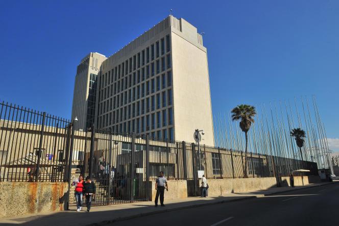 La « section d'intérêts américains » , à la Havane, en 2014.