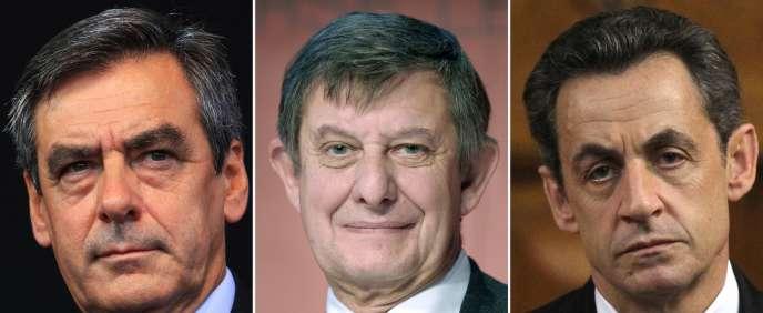 Selon deux journalistes du «Monde», François Fillon (à gauche) a demandé à Jean-Pierre Jouyet (au centre) de «taper vite» sur Nicolas Sarkozy (à droite) pour ne pas le «laisser revenir» en politique.