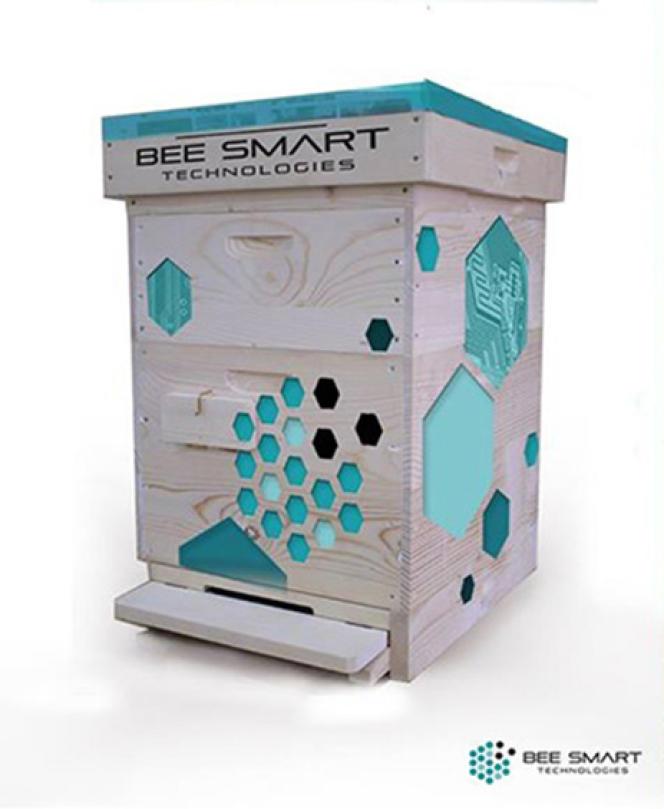 Une ruche permettant, par la collecte de big data sur les abeilles, d'améliorer leurs conditions de vie.