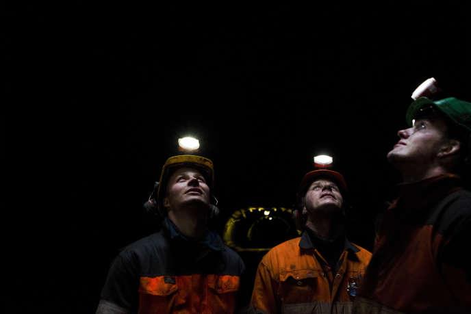 Des mineurs de charbon, dans la