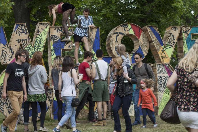 Au parc de Bagatelle, lors du festival We Love Green, le 1er juin 2014.