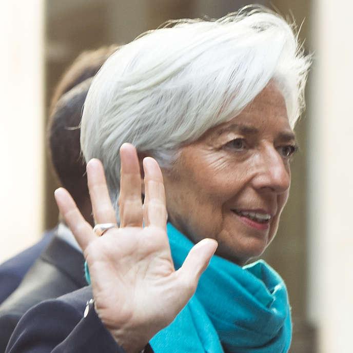 Christine Lagarde, directrice générale du FMI, au G7 Finance de Dresdes, jeudi 28 mai