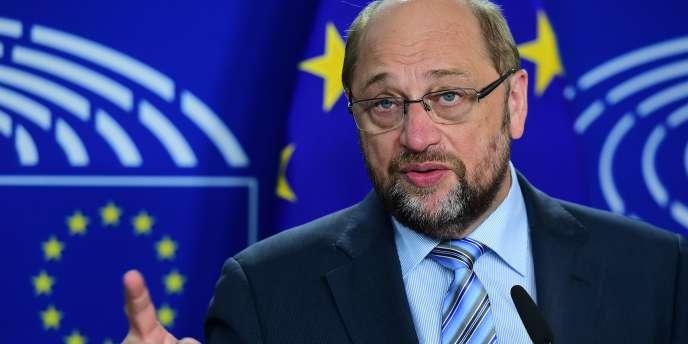 Le président du Parlement européen, Martin Schulz, le 28 mai à Bruxelles.