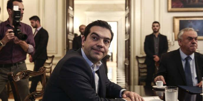Alexis Tsipras, le 28 mai à Athènes. (AP Photo/Yorgos Karahalis)