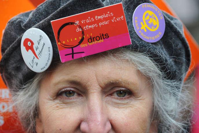 Manifestation pour les droits de la femme en 2009.