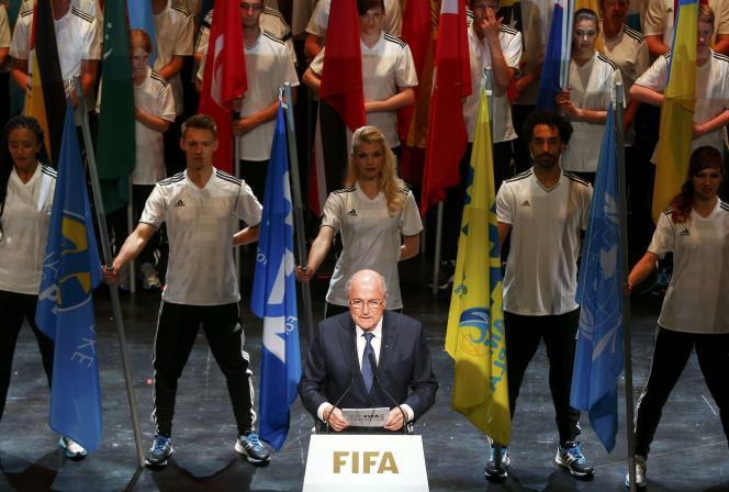 Joseph Blatter lors de la cérémonie d'ouverture du 65e congrès de Zurich, jeudi 28 mai.