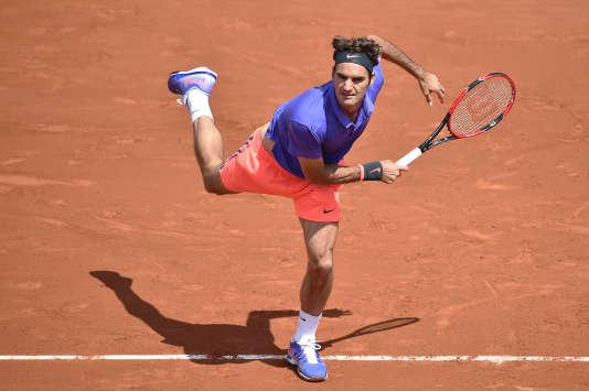 Roland-Garros 2015, dernière apparition de Federer sur le central du court Philippe-Chatrier.