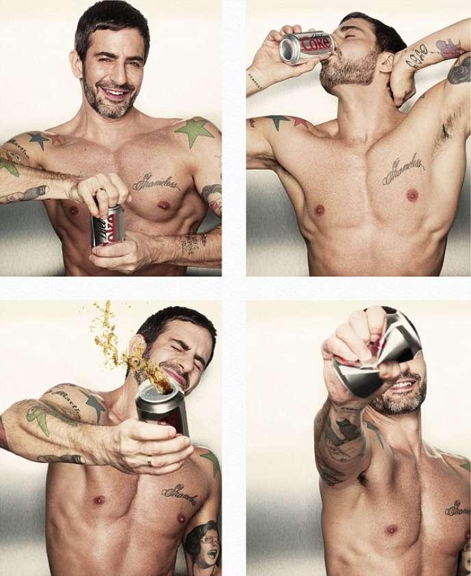 Marc Jacobs dans la campagne publicitaire pour le Coca-Cola Light, en 2013.