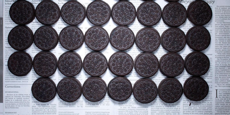 Biscuits au chocolat, New York (Etats-Unis), octobre 2011, 4,91 dollars (3,60 euros).