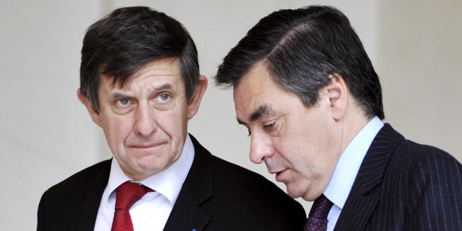 Jean-Pierre Jouyet et François Fillon en 2008.