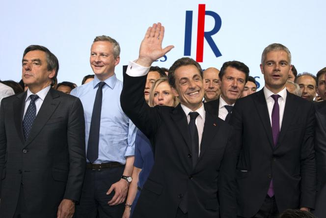 François Fillon, Bruno Le Maire, Nicolas Sarkozy et Laurent Wauquiez en mai 2015.