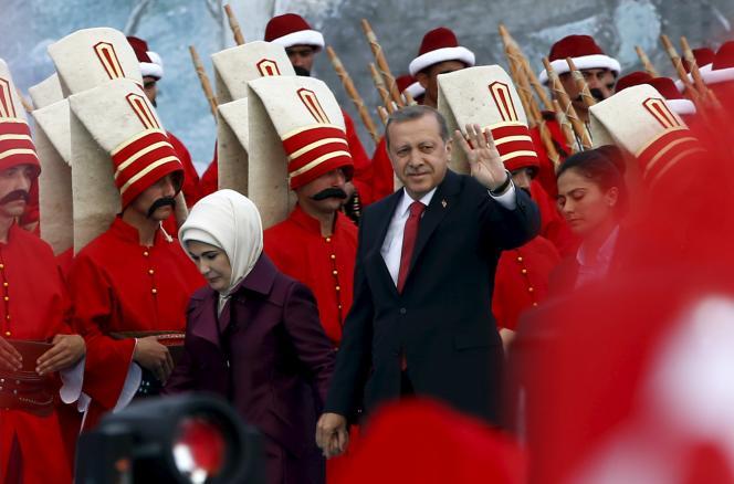 Erdogan et son épouse, le 30mai, lors de la commémoration de la prise de Constantinople, aujourd'hui Istanbul, par les Ottomans en1453.