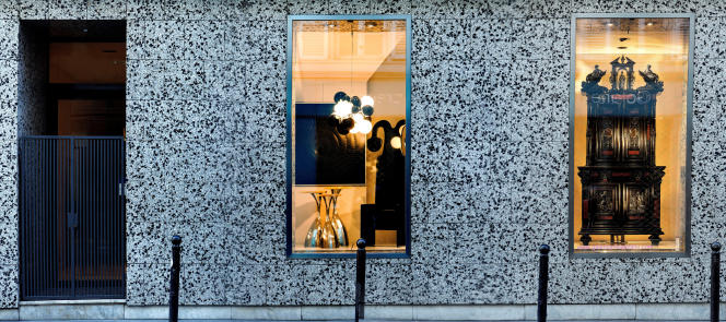 La vitrine de la galerie Gastou « La différence ».