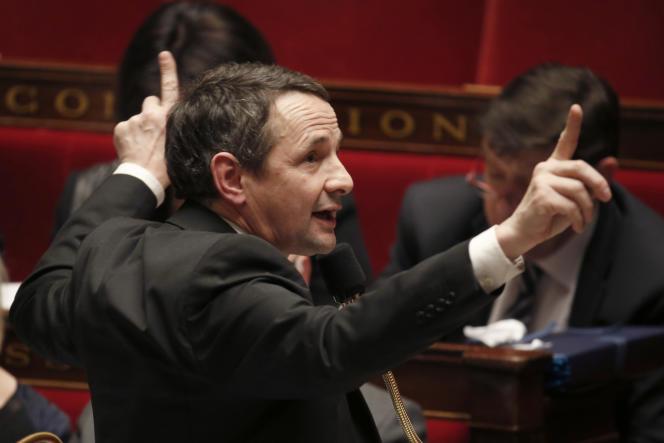 Thierry Mandon, à l'Assemblée nationale, le 24 mars.