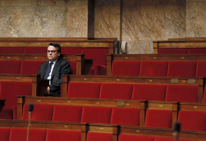 Thomas Thévenoud à l'Assemblée nationale le 28 novembre 2014.