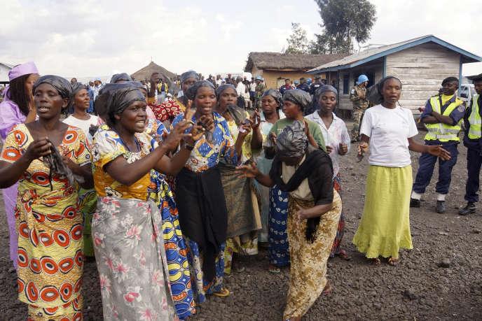 Des congolaises qui ont fui les affrontements dans le Nord-Kivu, à l'est de la République démocratique du Congo.