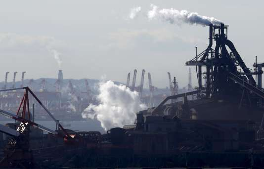 Complexe industriel à Kawasaki, sud de Tokyo