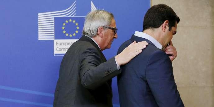 Le premier ministre grec, Alexis Tsipras et le président de la Commission européenne, Jean-Claude Juncker.